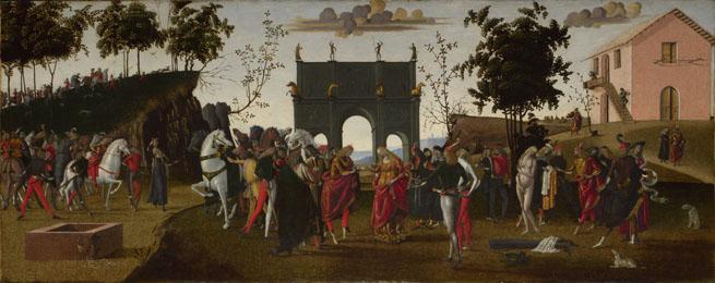 Maestro di Griselda, Le storie di Griselda, parte I: il matrimonio, 1494 ca., Londra, National Gallery.