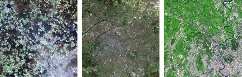 Mosca, Pargi e Roma viste dal satellite