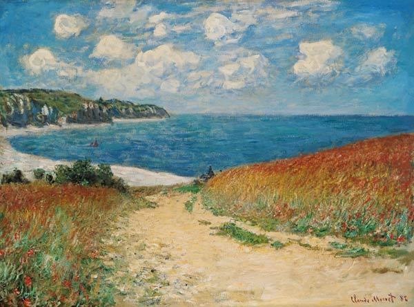 Claude Monet, Cammino al mare tra i campi di grano, 1882