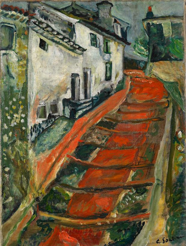 Chaïm-Soutine-L'Escalier-rouge-à-Cagnes-c.-1918