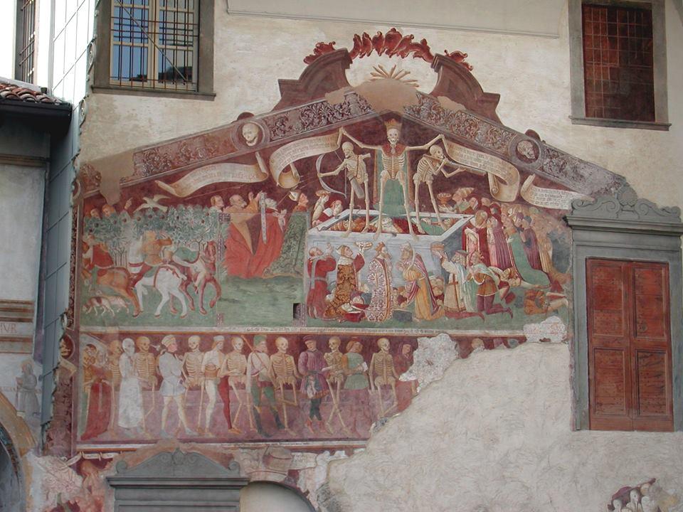 Oratorio dei Disciplini di Clusone - Danza macabra, wikimedia commons